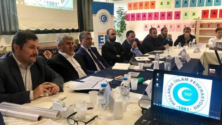 Milli Görüş NİF Şube Başkanları Toplantısı Leiden Fatih Camii'nde İcra Edildi