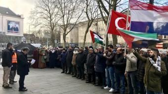"""""""ABD'nin Kudüs kararı, Hollanda'da protesto edildi"""""""