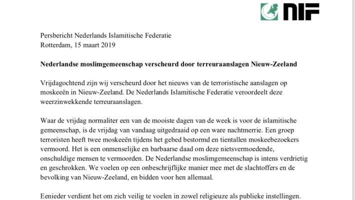 Nederlandse moslimgemeenschap verscheurd door terreuraanslagen Nieuw-Zeeland