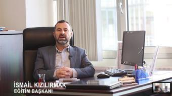 """NIF Eğitim Başkanı İsmail Kızılırmak: """"İmkansızlıkları imkanlı hale dönüştürelim"""""""